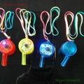 flashing led whistle keychain with light