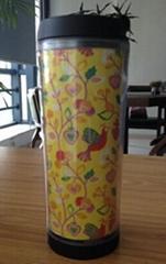 Doubl-wall plastic auto mug