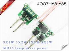 1X3W 2X2W (2 and 2 Series) MR16 lamp power supply -YL-M103A