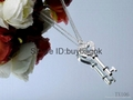 The factory wholesale best gift tiffany necklaces silver production