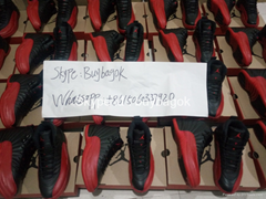 Wholesale New Air jordan  12 Flu game jordan shoes red/black authentic quality (Hot Product - 2*)
