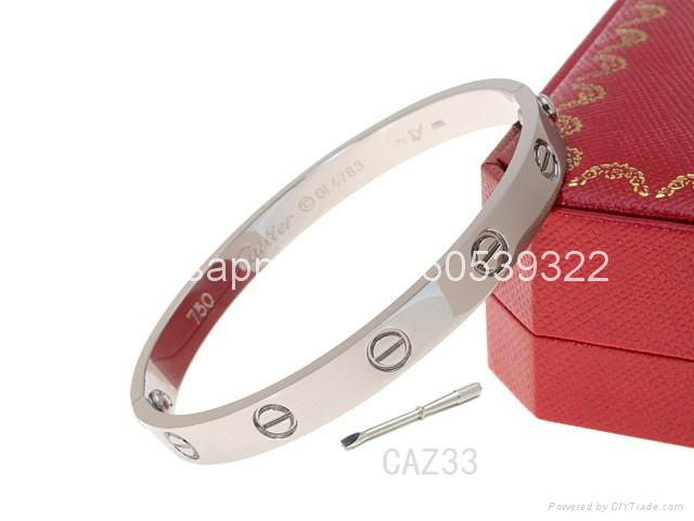 Wholesale jewelry Cartier earrings ring Cartier necklace bracelet 1:1 quality 18