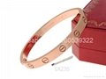 Wholesale jewelry Cartier earrings ring Cartier necklace bracelet 1:1 quality 16