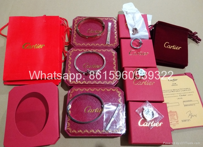 Wholesale jewelry Cartier earrings ring Cartier necklace bracelet 1:1 quality 1