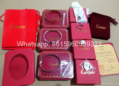 Wholesale jewelry Cartier earrings ring Cartier necklace bracelet 1:1 quality (Hot Product - 1*)