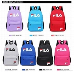 Wholesale fila fashion School bag backpack students bags Travel bags