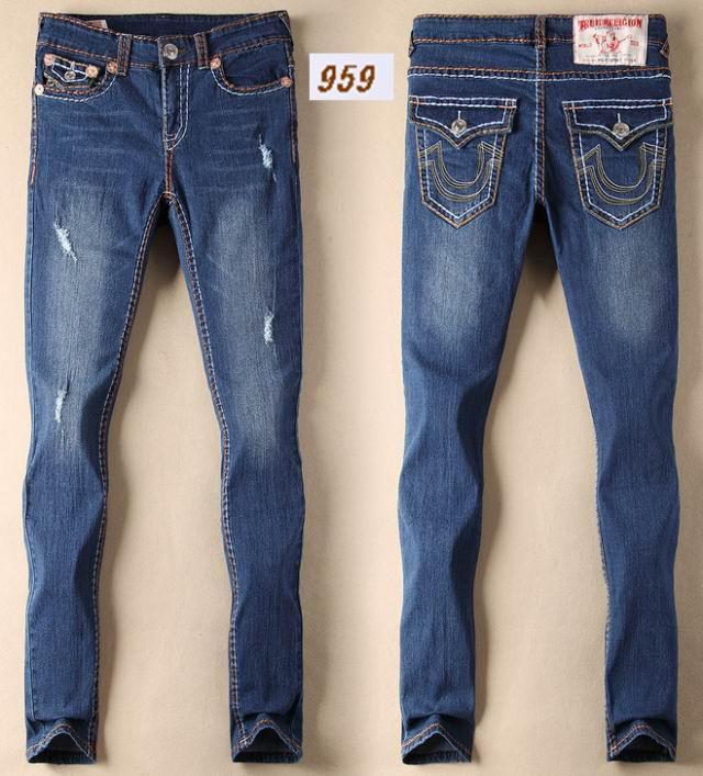 Wholesale True Religion jeans men jeans fashion pants TR trousers women jeans 6