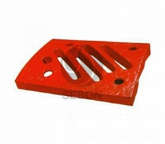 High manganese steel Impact crusher liner plate