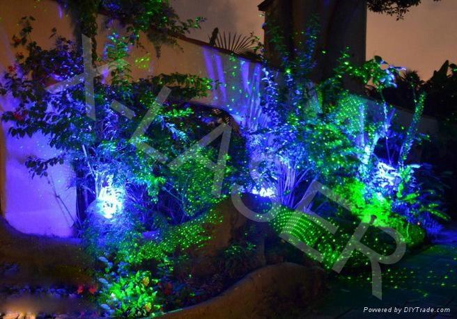 Outdoor Waterproof Blue Static Firefly Garden Laser Light For Christmas 1  ...