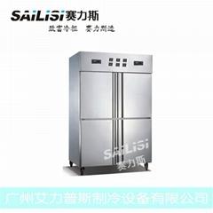 1000L四門暗管管冷凍冷藏櫃