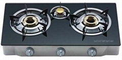 household Kitchen glass top gas stove