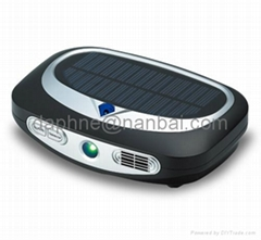 HEPA actived carbon remove dust and smoke car air freshener with solar