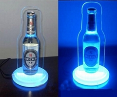 light acrylic display stand beer display case menu display stand