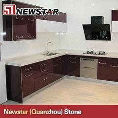 Cheap polished multicolor artificial quartz stone countertop