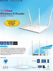 300Mbps wireless router 2  external antennas