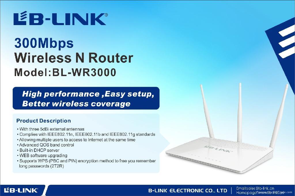 300Mbps wireless router 2  external antennas 2