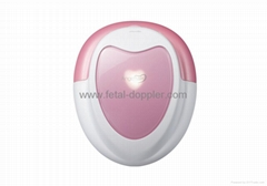 3Mhz Ultrasound fetal doppler with heart-shape design