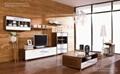 Rhine living room furniture walnut veneer coffee table TV stand double dresser