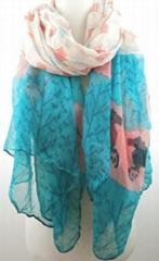 NEW pony print scarf woman