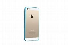 爆款個性手機殼 iphone4代5s手機保護套 弧形海馬扣 竹節金屬邊框