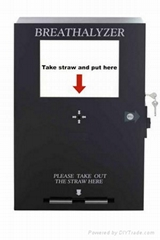 Bill Operated Vending Breathalyzer with LCD TV