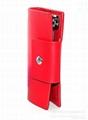 fashion leather key wallet,car key case,key chain 1