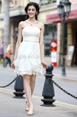 Formal party white beautiful evening dress