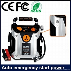 12V Peak 1000Amp jump starter with air compressor