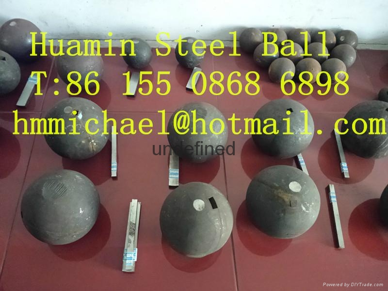 125mm forged steel grinding ball 2
