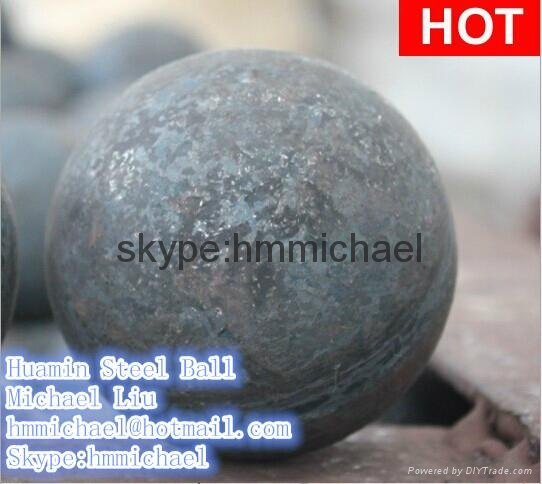 140mm forged steel grinding ball 2