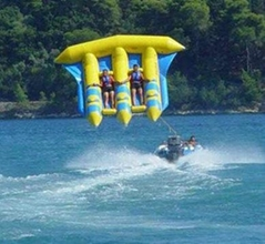 Exciting PVC Inflatable Fly Fishing Boats Banana Boat