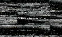Black Decorative Stone Wall Tiles For Wall Cladding