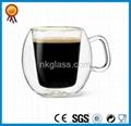 Clear Double Wall Glass Mug 2