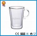 Clear Double Wall Glass Mug 1