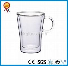 Clear Double Wall Glass Mug