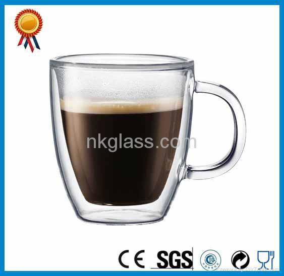 Clear Double Wall Glass Mug 3