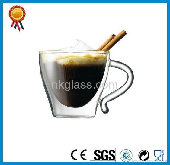 Clear Double Wall Glass Mug 4