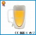 Clear Double Wall Glass Mug 5
