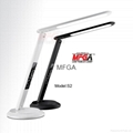 Foldable panel light source table lamp with HD VA LCD calendar display