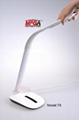 DC12V COB LED panel light table lamp with sliding touch dimmer