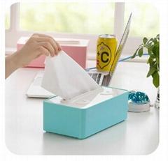 炫彩時尚長盒形笑臉紙巾抽