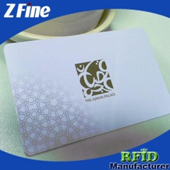 frosted plastic business card