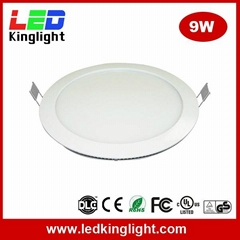"Cut Hole 130mm (5"") 9W Round LED Panel Lights"