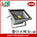 20W LED Floodlight, IP65 Waterproof,