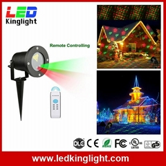 Outdoor Laser Christmas Light Projector with IR Wireless Remote, Red and Green