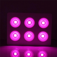 Full spectrum 440nm-730nm 6x100W COB spider led grow light good for hydroponic