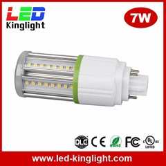 7W G24 led bulb light corn lighting AC100-277V, 100lm/W, UL approved