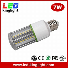 7W LED bulb e27 corn light AC100-277V, 100lm/W, UL approved
