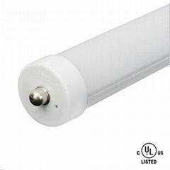 DLC/ETL T8 LED tube Lights, Single PIN, 8ft, 40W, FA8