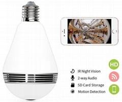 LED Bulb Light with WiFi Camera Fisheye 1080P HD Wireless IP Camera 360 Degree